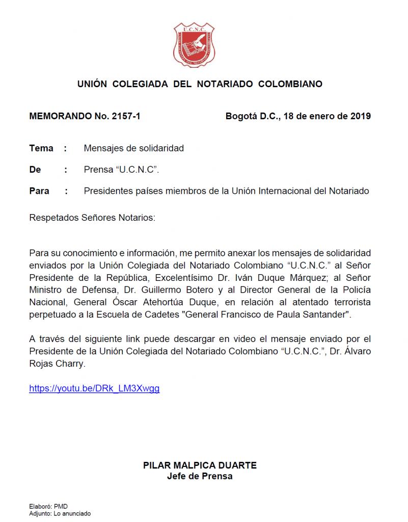 UNIÓN COLEGIADA DEL NOTARIADO COLOMBIANO, ÁLVARO ROJAS, NOTARIO, NOTARÍA, NOTARIADO, UCNC